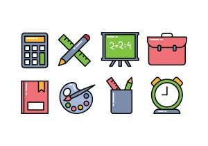 vector-school-icon-pack